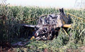 Nova Murtum - Avião agrícola cai ao bater em cabos de alta tensão; piloto fica ferido (Crédito: Reprodução)