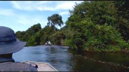 Sema retira 240 metros de redes do rio Araguaia (Crédito: Reprodução)