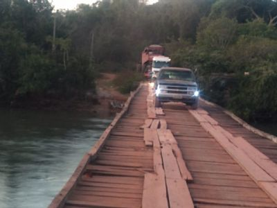 Ponte sobre Rio Fontoura causa insegura a produtores rurais