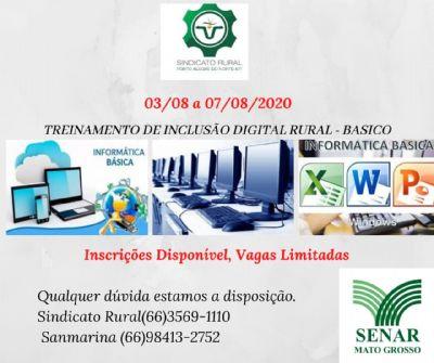 """Sindicato Rural de Porto Alegre do Norte trará treinamento de """"Inclusão digital rural""""."""